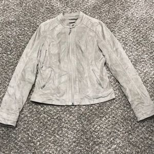 small suede maurices moto-jacket